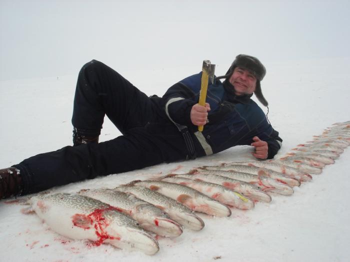 ловим на сеть рыболовную