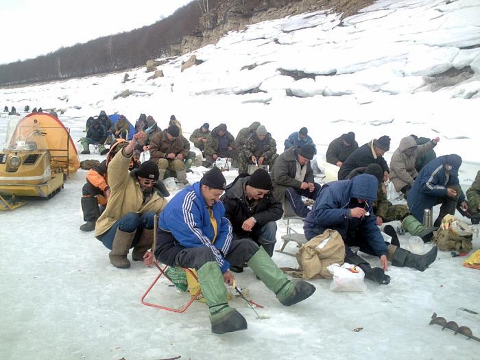 рыбалка в нугуше на холодном озере