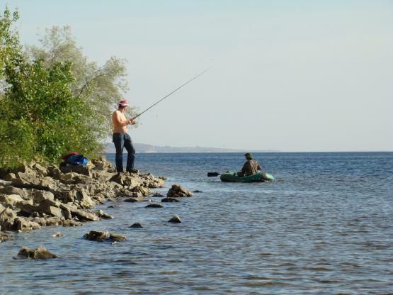 ловля с берега на волгоградском водохранилище